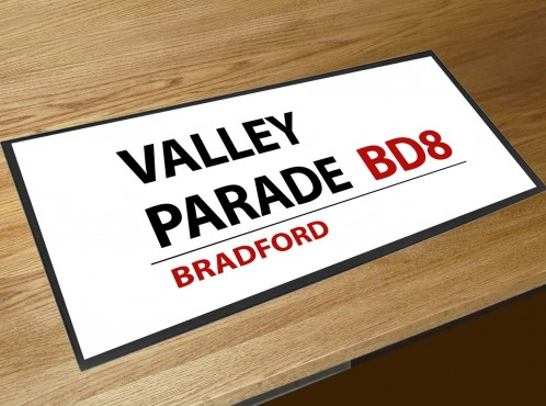 Valley parade football street sign bar runner