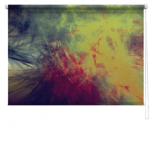 Abstract painting roller blind