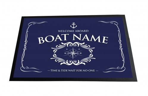 Personalised Blue Boat mat