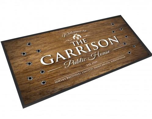 The Garrison Public House wood effect bar runner mat
