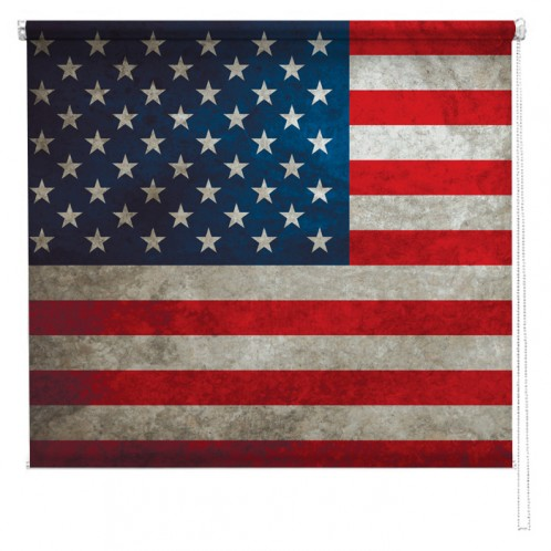 Stars & Stripes American flag printed blind