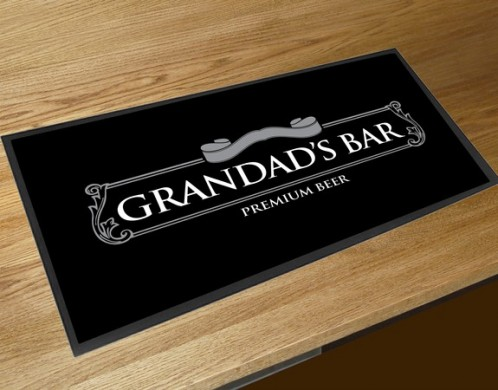 Grandads bar runner beer mat