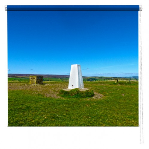 Yorkshire Moors Trig Point printed blind