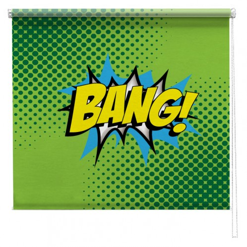 Bang comic printed blind