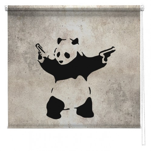 Banksy graffiti printed blind Panda