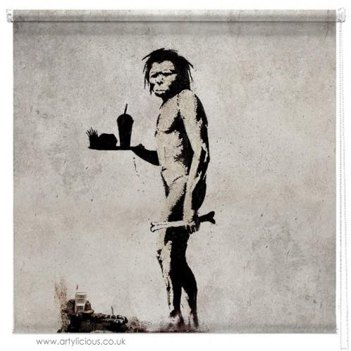 Banksy fast food caveman blind