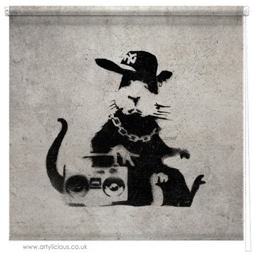 Banksy Ghetto Rat blind