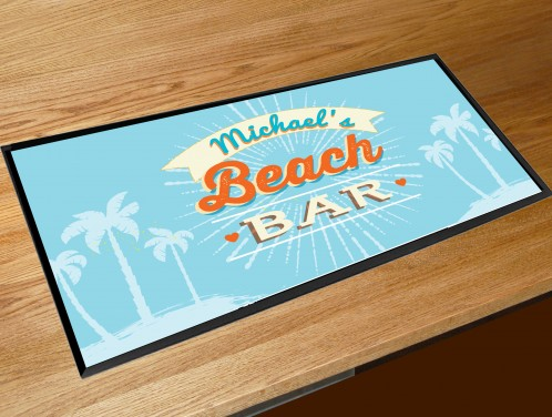 Personalised Beach bar runner