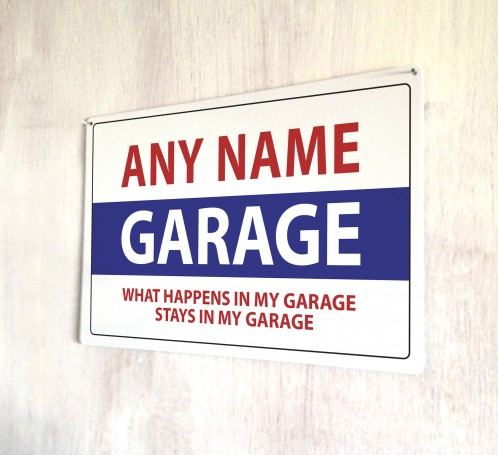 Personalised Garage metal sign