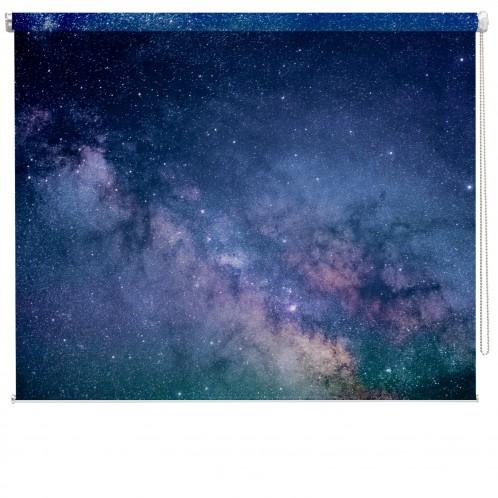 Blue galaxy printed blind