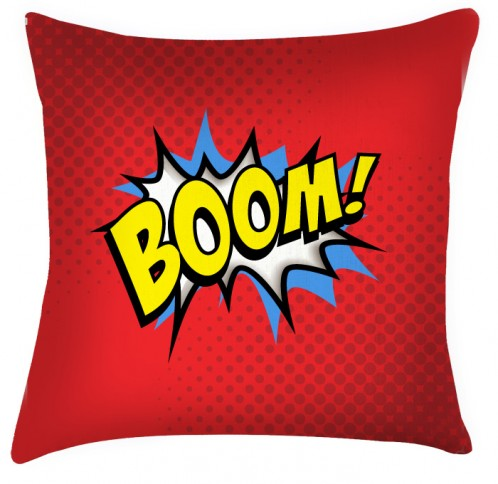 BOOM comic funky style green cushion