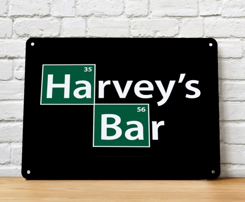 Personalised Bar sign, breaking bad elements