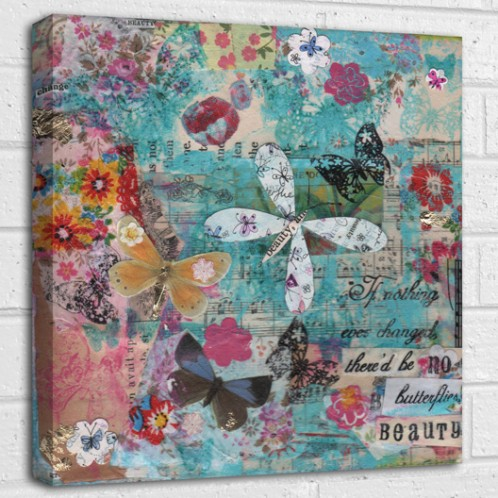 If nothing ever changed there'd be no butterflies quote canvas art