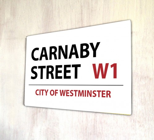 Carnaby Street London metal Street sign