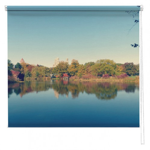 Central Park New York Lake view printed blind