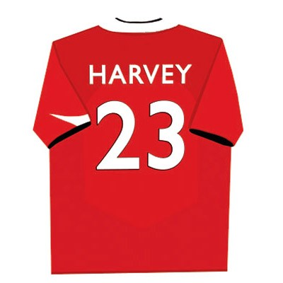 Personalised football shirt childrens canvas art