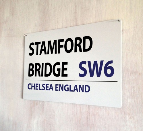 Stamford Bridge Chelsea Street Sign