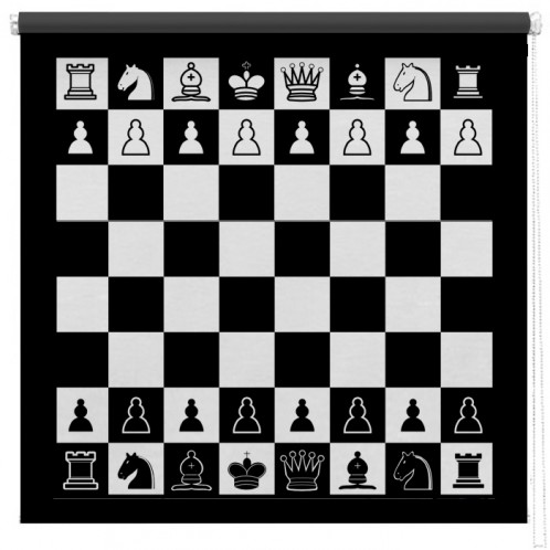 Chess board printed blind