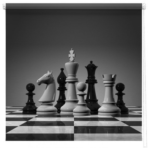 Chess Pieces printed blind