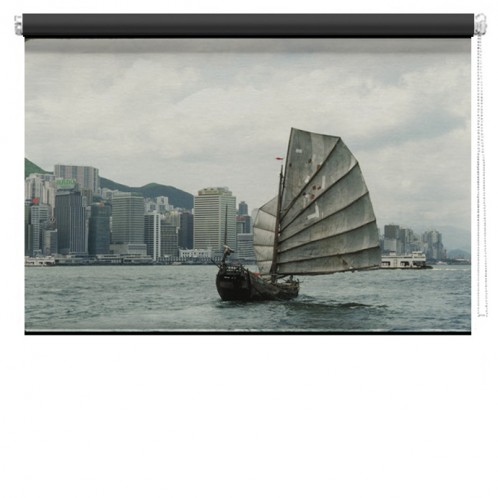 Chinese boat Printed Blind