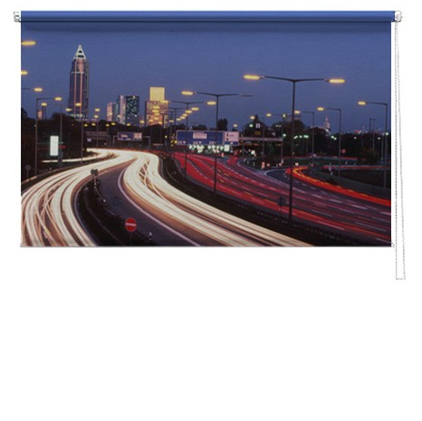City Lights printed blind