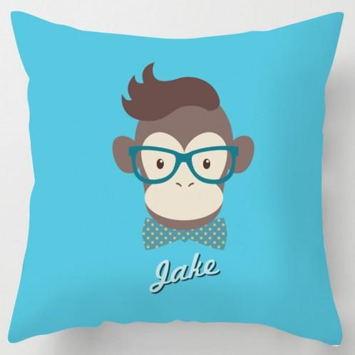 Personalised Clever Monkey Cushion