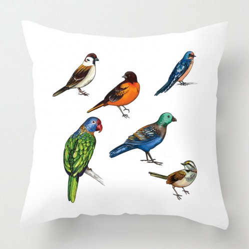 Colourful Birds cushion