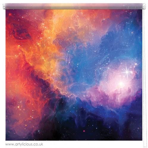 Colourful Nebula printed blind