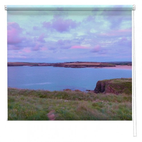 Cornwall blue sunset UK printed blind