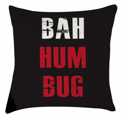 Bah humbug christmas cushion