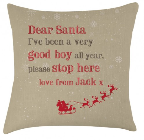 Personalised Santa childrens cushion