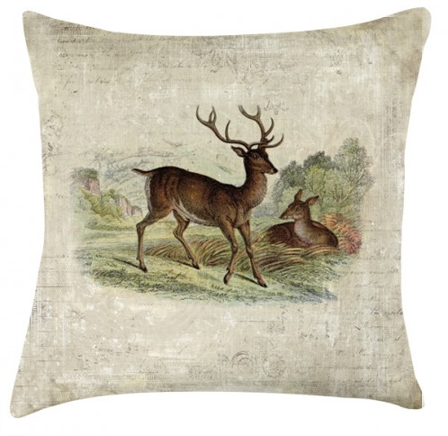 Vintage Deer cushion