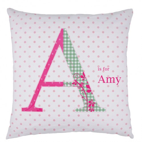 Personalised Letter childrens cushion