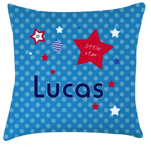 Personalised little star childrens cushion