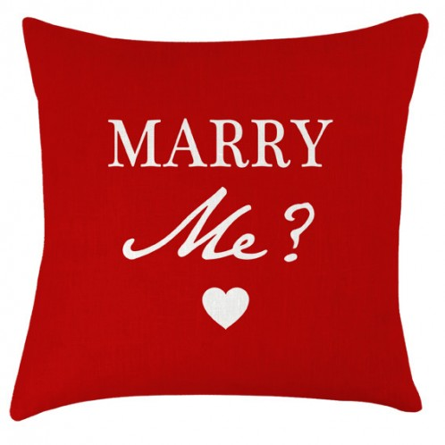 Marry me cushion