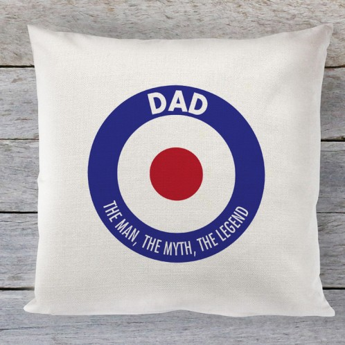 Dad mod circle linen cushion