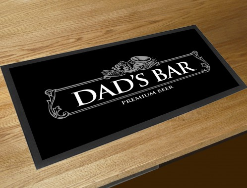 Dads bar runner beer mat