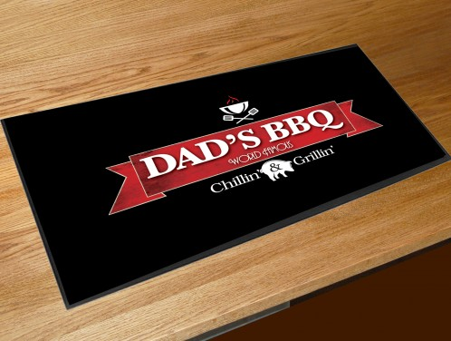 Dads BBQ bar runner mat