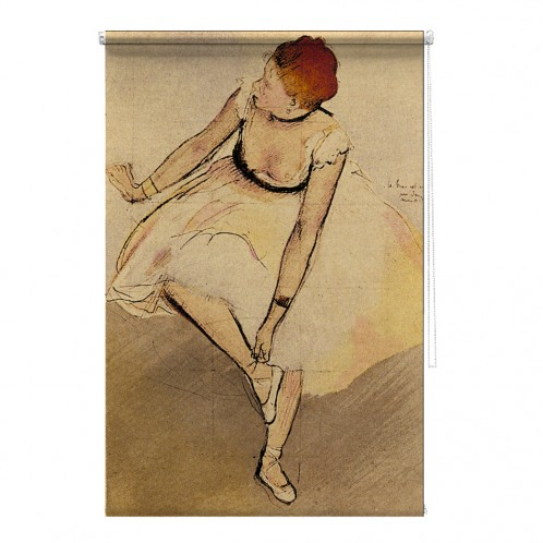 Dancer Edgar Degas masters study painting printed blind
