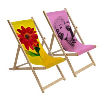 Printed photo deckchairs