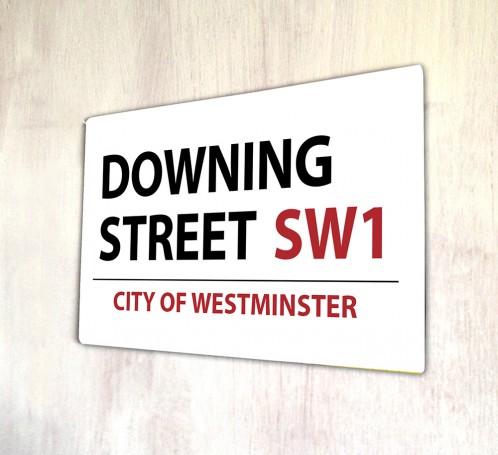 Downing Street London metal Street sign