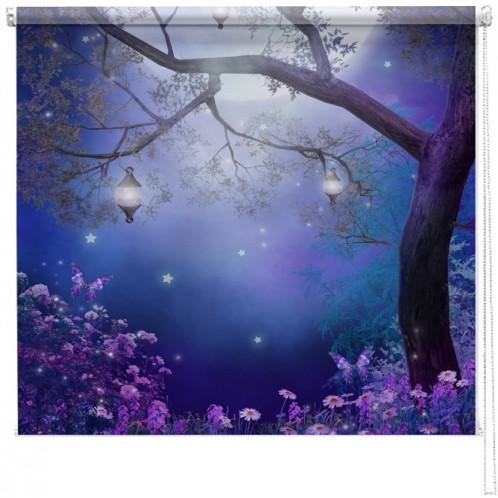 Enchanted meadow printed blind