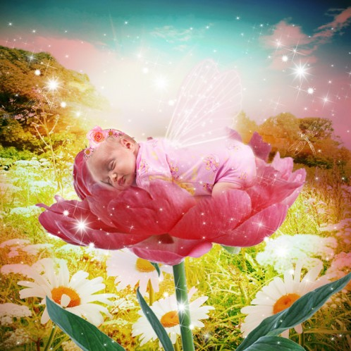 flower baby photo fairytale art