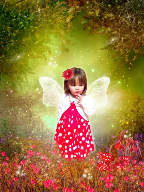 Forest fairy photo fairytale art
