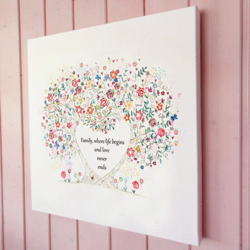 family tree illustration canvas