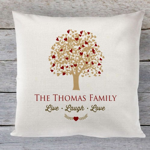 Family Tree Personalised linen cushion