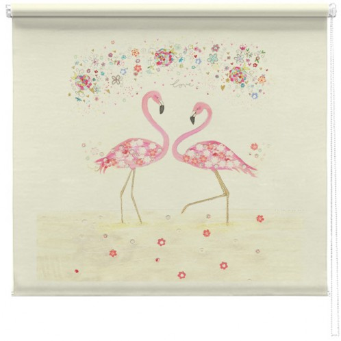 Flamingo Love printed blind