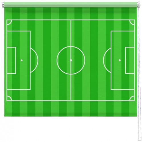 Football pitch printed blind
