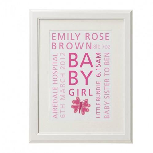 personalised baby words print