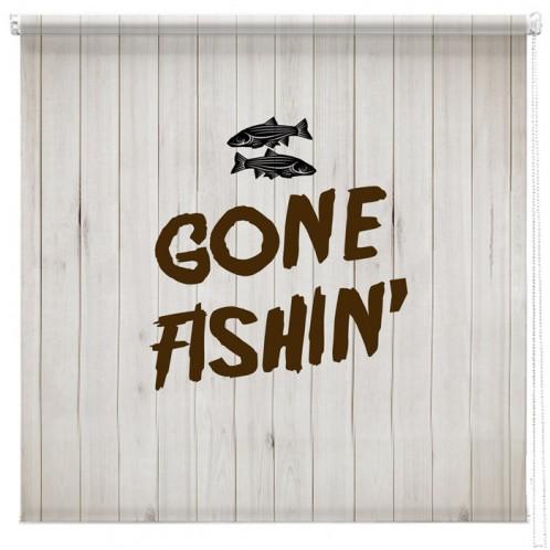 Gone Fishin' printed blind